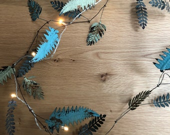 Metal leaf garland
