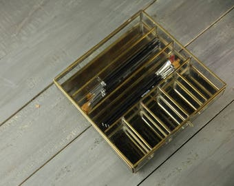 Contemporary Brass Jewellery/Collections Box