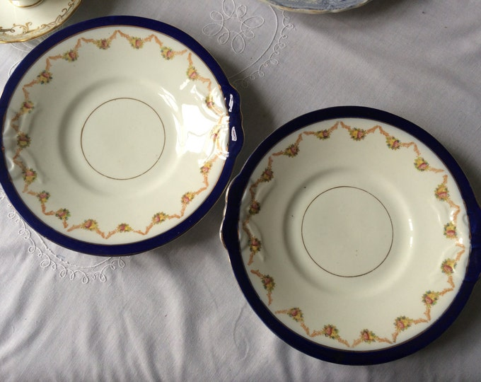 Pair of Victorian Cake Plates