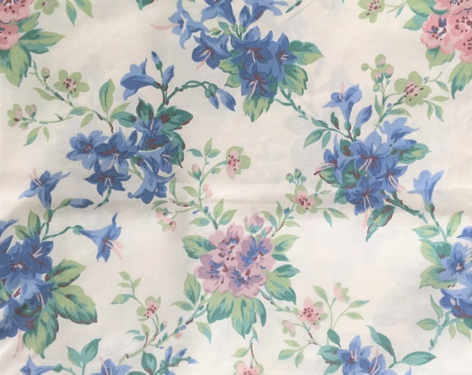 Length of Vintage Floral Fabric, scotchguarded, beautiful colours, ideal for upholstery and furnishing projects