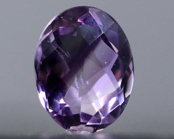 Amethyst gemstone, fine gemstone Handmade creation. pendant purple quartz fitting resin bi color waxed cotton cord