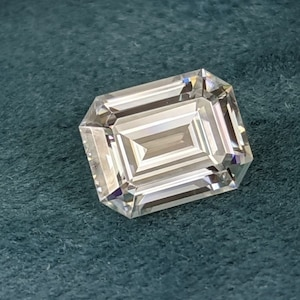 4.93 ct .10 ct Diamond Alternative DEF Color Loose Moissanite Emerald Cut Forever One Colorless Moissanite