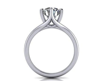 1.50 CTW Forever One Ring - Solitaire Ring - Engagement Ring - Moissanite Ring - Platinum Ring - Gold Ring - Wedding Ring