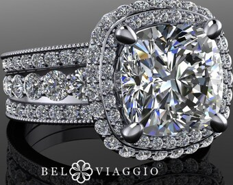 Magnifique Blanc MOISSANITE Fleur Boucles d/'oreilles femme mariage fiançailles bijoux