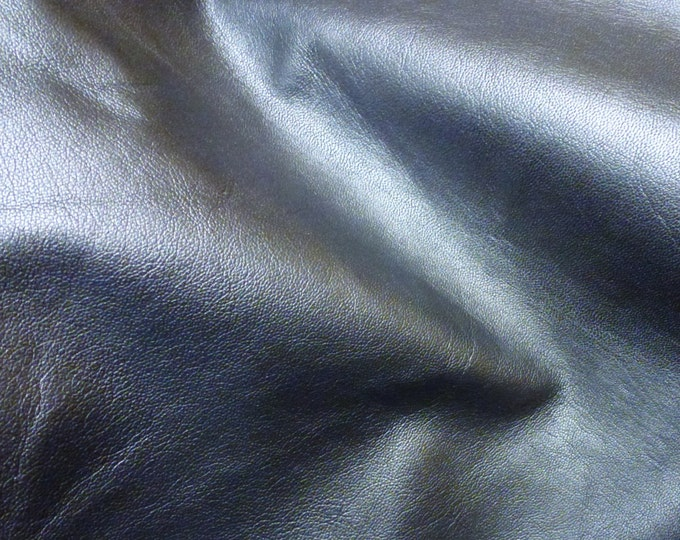 """Leather 8""""x10"""" GRAPHITE / Charcoal Pearlized Finish GOATSKIN 2-2.5 oz / 0.8-1 mm PeggySueAlso™ E2195-01"""