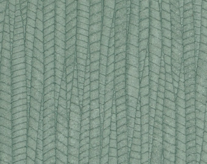 "Leather 12""x12"" Palm Leaf SEA FOAM Green Cowhide 3-3.25 oz / 1.2-1.3 mm PeggySueAlso™ E3171-01 Hides available"
