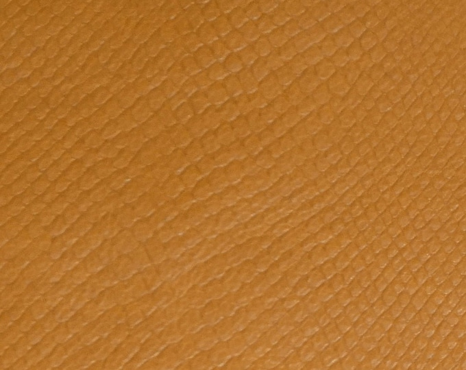 "Leather 12""x12"" Amazon Cobra Matte DISTRESSED BUTTERSCOTCH  Embossed Calfskin (Read DESCRIPTION) 2-2.25 oz/0.8-0.9mm PeggySueAlso™ E2818-02"