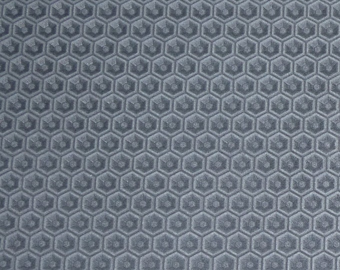 Leather 3+ sq ft  HONEYCOMB Italian ASH GRAY Cowhide 3 oz / 1.2 mm PeggySueAlso™ E3173-02 hides available
