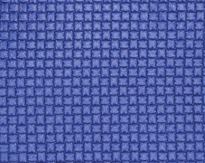 "Leather 12""X12"" PLAIT Weave Italian MYSTERIOUS BLUE Cowhide 3 oz / 1.2 mm PeggySueAlso™ E3174-01 hides available"