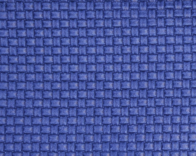 """Leather 5""""X11"""" PLAIT Tiny Basket Weave Italian MYSTERIOUS BLUE Cowhide 3 oz / 1.2 mm PeggySueAlso™ E3174-01 hides available"""