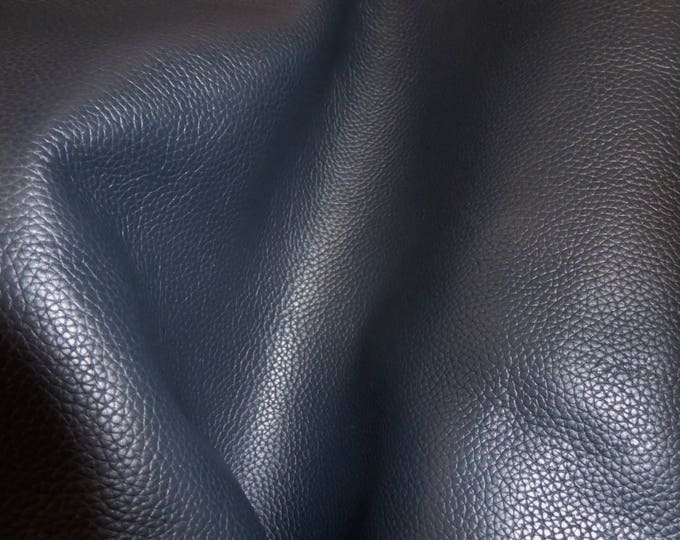 "Leather 12""x12"" Biker NAVY BLUE Top Grain Soft Cowhide 3-3.5 oz / 1.2-1.4mm PeggySueAlso™ E2879-05 Hides Available"