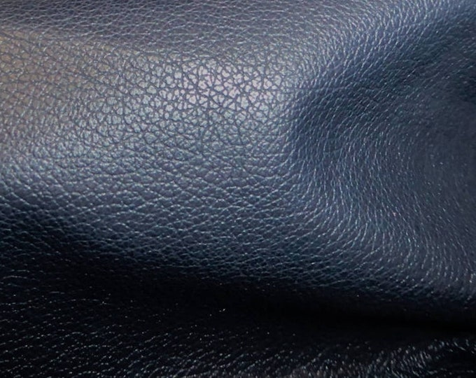 "Leather 8""x10"" Divine DARK NAVY BLUE Top Grain Soft Cowhide  2.5 oz / 1mm  PeggySueAlso™ E2885-04 Full Hides Available"
