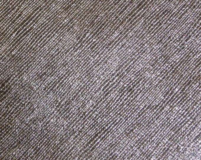 "Leather Metallic 8""x10"" Saffiano GUNMETAL Weave Embossed FIRM Cowhide 2.5-3oz/ 1-1.2mm PeggySueAlso™ E8201-20 hides available"