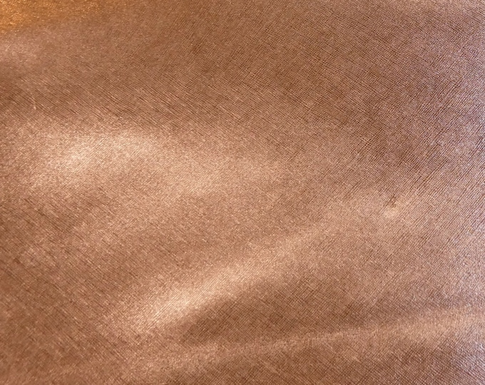 "Metallic Leather 8""x10"" Saffiano ROSE GOLD Weave Embossed Cowhide ITALIAN 3 oz / 1.2mm PeggySueAlso™ E8201-11 hides available"