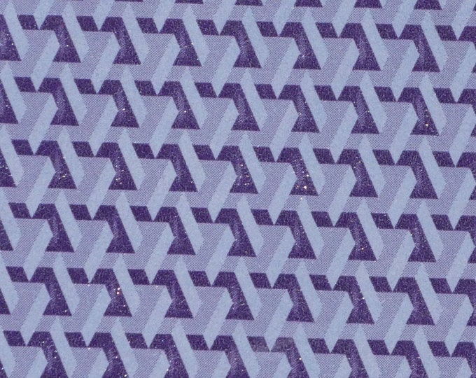 "Leather 12""x12"" 3D Lilac and Purple Geometric Brick Cowhide 3-3.5 oz/ 1.2-1.4 mm PeggySueAlso™ E1256-02 trial"