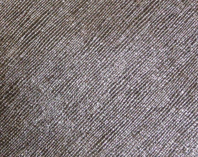 """Leather Metallic 12""""x12"""" Saffiano GUNMETAL Weave Embossed Cowhide 2.5-3oz/ 1-1.2mm PeggySueAlso™ E8201-20 hides available"""