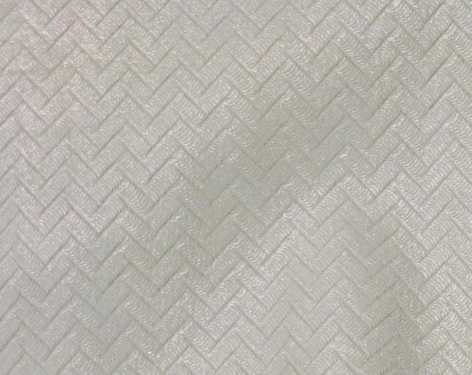 """Leather 8""""x10"""" Pearly Silver Shimmer ZIG ZAG Soft Cowhide 2.5-3 oz/ 1-1.2 mm PeggySueAlso™ E1120-03"""