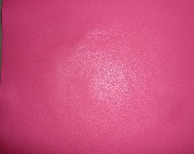"Leather 12""x20"" or 10""x24"" or 15""x15"" DIVINE Hot Pink / Fuchsia Cowhide fine grained 2-2.5 oz / .8-1 mm PeggySueAlso™ E2885-34"