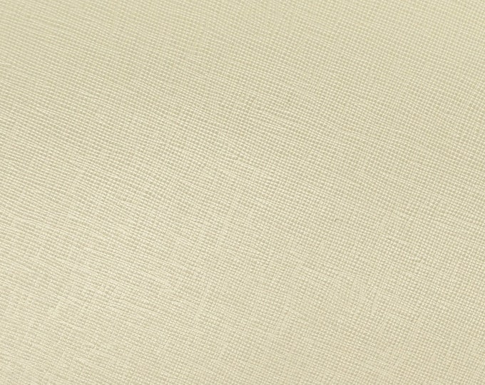 "Leather 12""x12"" Italian Saffiano SWEET White CORN / Cream Weave Embossed Cowhide 2.5-3oz/ 1-1.2mm PeggySueAlso™ E8201-49 hides available"