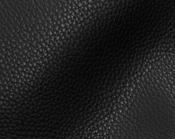 """Leather 8""""x10"""" Imperial BLACK Fully Finished Pebble Grain THICK but soft Italian Cowhide 3.75-4oz/1.5-1.6mm PeggySueAlso™ E3205-09"""
