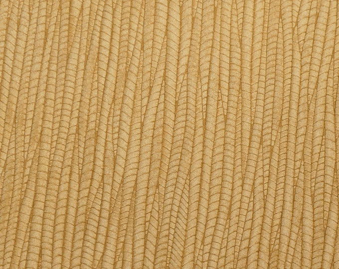 "leather 8""x10"" Palm Leaf Warm LIGHT OAK Cowhide 3-3.25 oz / 1.2-1.3 mm PeggySueAlso™ E3171-14 Hides Available"