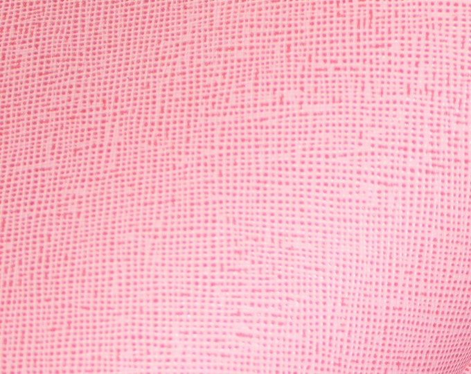"""Leather 12""""x12"""" Saffiano ORIGINAL PINK Weave Embossed Cowhide 2.5-3oz/ 1-1.2mm PeggySueAlso™ E8201-10 lIMITED"""