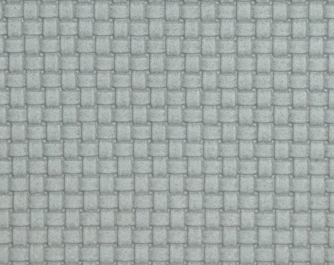 "Leather 5""X11"" PLAIT Tiny Basket Weave Italian GRAY SKIES Cowhide 3 oz / 1.2 mm PeggySueAlso™ E3174-02 hides available"