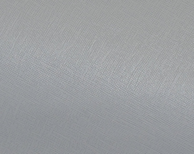 """Leather 8""""x10"""" Saffiano NEUTRAL GRAY Weave Embossed Cowhide 2.5-3 oz/ 1-1.2 mm PeggySueAlso™ E8201-44 hides too"""