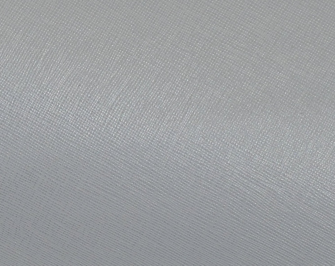 "Leather 8""x10"" Saffiano NEUTRAL GRAY Weave Embossed Cowhide 2.5-3 oz/ 1-1.2 mm PeggySueAlso™ E8201-44 hides too"