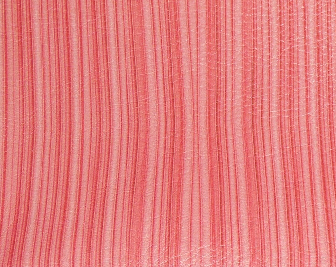 "Leather 12""x12"" Pleated Living CORAL Curtain Cowhide 3-3.5 oz / 1.2-1.4 mm PeggySueAlso™ E1136-05 hides available"