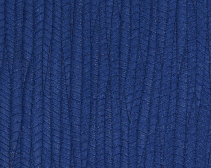 "Leather 8""x10"" Palm Leaf NAVY BLUE / Royal  Cowhide 3-3.25 oz / 1.2-1.3 mm PeggySueAlso™ E3171-03 hides available"