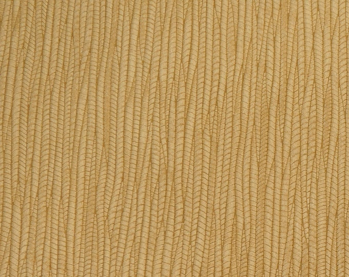 "NeW COLOR Leather 12""x12"" Palm Leaf Warm LIGHT OAK Cowhide 3-3.25 oz / 1.2-1.3 mm PeggySueAlso™ E3171-14 Hides Available"