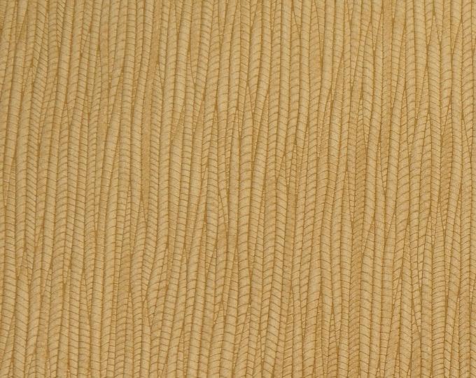 "Leather 12""x12"" Palm Leaf Warm LIGHT OAK Cowhide 3-3.25 oz / 1.2-1.3 mm PeggySueAlso™ E3171-14 Hides Available"