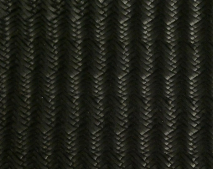 "ReSTOCKED Leather 8""x10"" ITALIAN Fishtail BLACK (firmer than USA) 2.5-3 oz / 1-1.2 mm PeggySueAlso™ E3160-12"