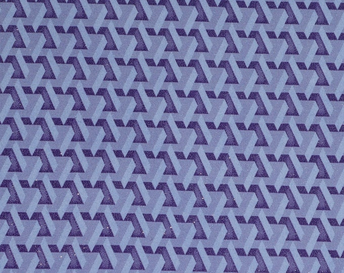 """Leather 12""""x12"""" 3D Lilac and Purple Geometric Brick Cowhide 3-3.5 oz/ 1.2-1.4 mm PeggySueAlso™ E1256-02 trial"""