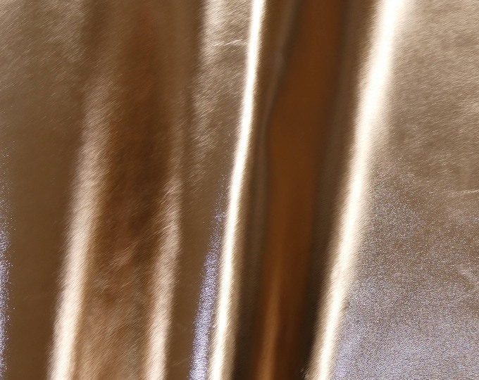 "Metallic Leather 8""x10"" Smooth ROSE Gold Foil Cowhide 2.25-2.5 oz / 0.9-1 mm PeggySueAlso™ E2845-19 Hides available"