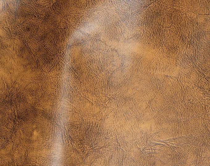 """NEW Dye Lot Leather 8""""x10"""" Artisan Tie Dye WHISKEY BROWN (lighter shade) Cowhide 3-3.5 oz / 1.2-1.4 mm PeggySueAlso™ E2920-04"""