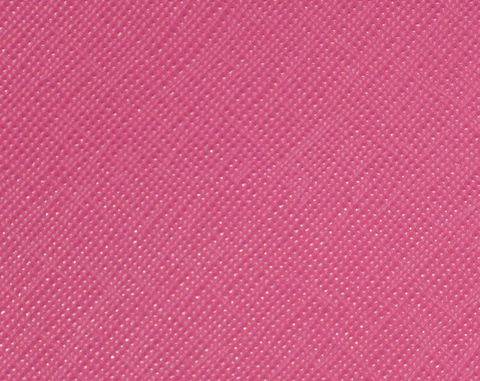 "Leather 8""x10"" Italian Saffiano PINK PEACOCK Matte Weave Embossed Cowhide 2.5-3oz/ 1-1.2mm PeggySueAlso™ E8201-50 hides available"