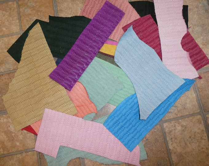 FISHTAIL Scrap Leather 4 sq ft overall Assorted colors FREE Priority Shipping (picture is an example) 2.5-3 oz/ 1-1.2 mm PeggySueAlso™ E3160