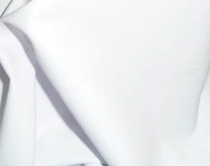 "Leather 12""x12""  Plonge  WHITE Garment / Purse Full grain THIN Cowhide 1.75oz/.7 mm PeggySueAlso™  E2843-02"