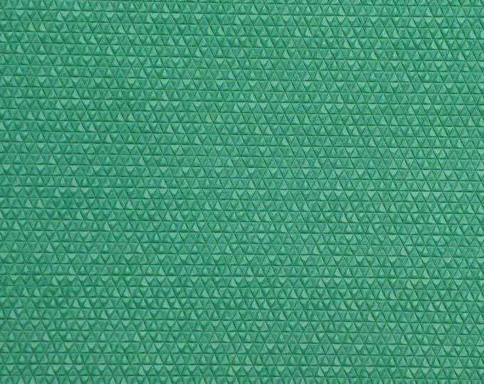"""8""""x10"""" Mini Triangles EMERALD / JADE GREEN  On  Italian Cowhide Leather 3 oz / 1.2 mm PeggySueAlso™ E3172-04 Hides Available"""