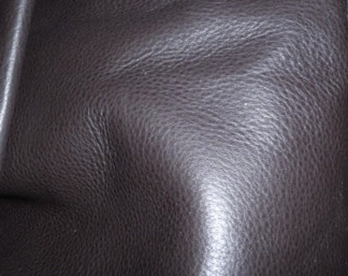 "Leather 12""x24"" Soft Chocolate Brown Tanned to feel like Deerskin Aniline COWHIDE 3-3.5 oz / 1.2-1.4 mm PeggySueAlso™"