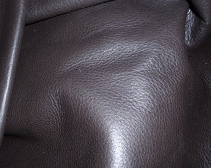 Leather 10 sq ft Soft Chocolate Brown Tanned to feel like Deerskin Aniline COWHIDE 3-3.5 oz / 1.2-1.4 mm PeggySueAlso™ E2660-02