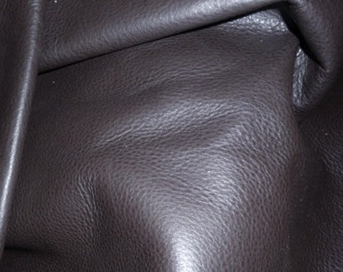 """Leather 12""""x12"""" Soft Chocolate Brown Tanned to feel like Deerskin Aniline COWHIDE 3-3.5 oz / 1.2-1.4 mm PeggySueAlso™ E2660-02"""