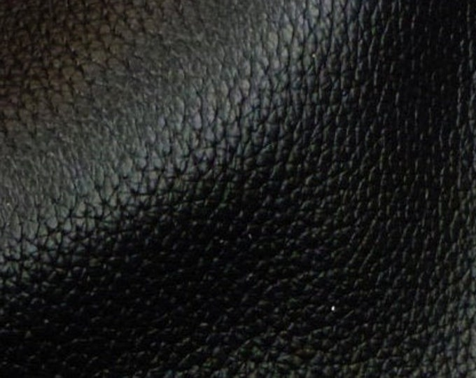 "Leather 8""x10"" RICH Black Buffalo embossed Cowhide Heavily grained - Fairly Thick at 4-4.5 oz / 1.6-1.8 mm PeggySueAlso™ E3250-01"