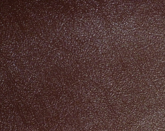 """Leather 12""""x12"""" Brown MISSION PIGSKIN Firm lining 2 oz / .8 mm PeggySueAlso™ E3300 Full hides available"""