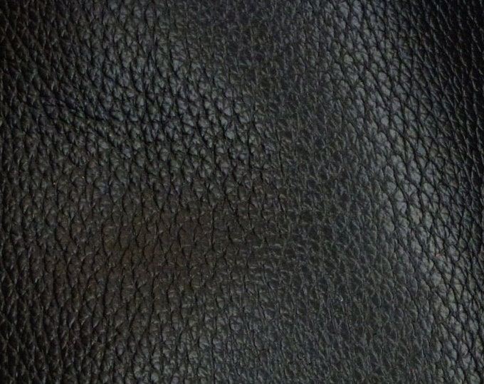 """Leather 12""""x20"""", 10""""x24"""" or ? RICH Black Buffalo embossed Cowhide Heavily grained - Fairly Thick 4-4.5 oz/1.6-1.8mm PeggySueAlso™ E3250-01"""
