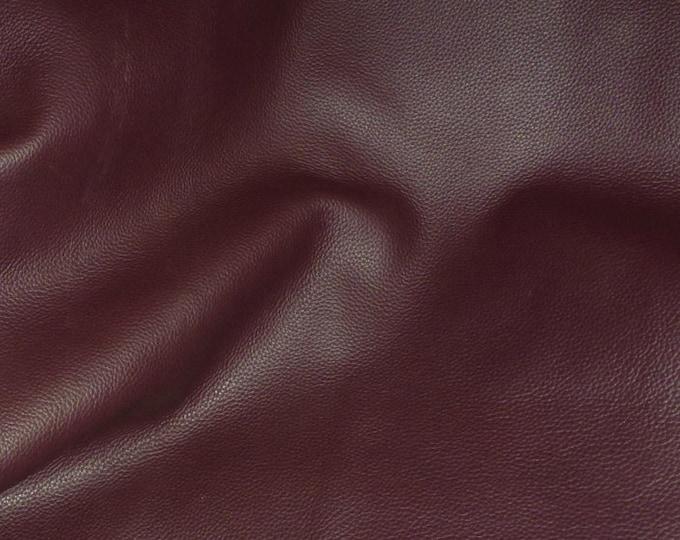 "Leather 12""x12"" Biker BURGUNDY / Maroon top grain Cowhide 3-3.5 oz /1.2-1.4mm PeggySueAlso™ E2879-10"