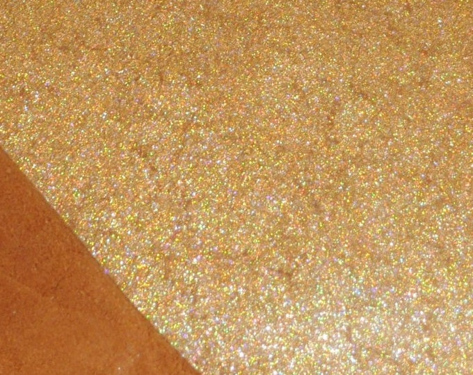 "Leather 12""x20"" or 15""x15"" or 10""x24"" or ? Vintage Crackle GOLD HALO Metallic On TOAST Cowhide 3-3.5 oz / 1.2-1.4 mm  PeggySueAlso™ E2844-27"