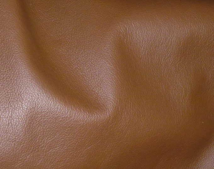 "Leather 20""x20"" Biker BRANDY  top grain Cowhide 3-3.5 oz / 1.2-1.4mm PeggySueAlso™ E2879-08 Hides available"